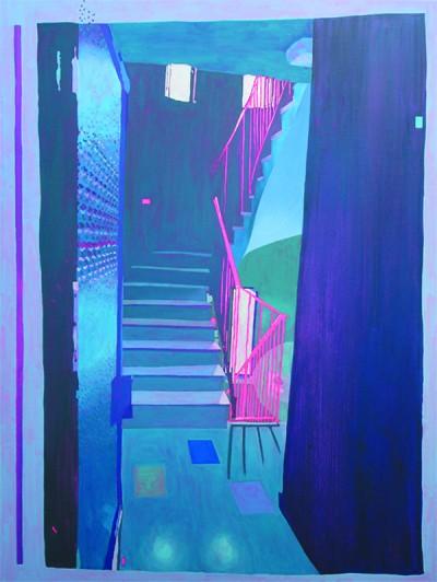 104470 scale dei desideri web kunstuitleen galerie beeldend gesproken - Kleur trap schilderij ...