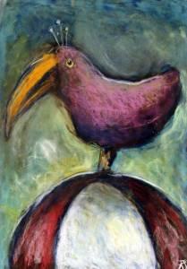 Vogel op bal I