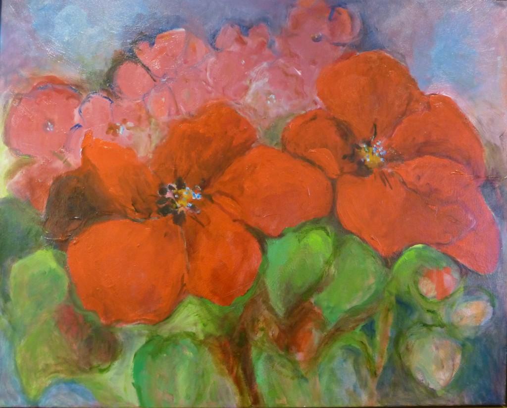 Rode bloemen II