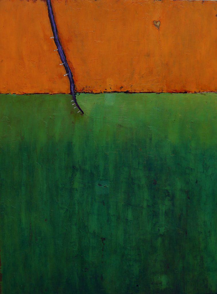 Verdwaalde liefde (groen-oranje)