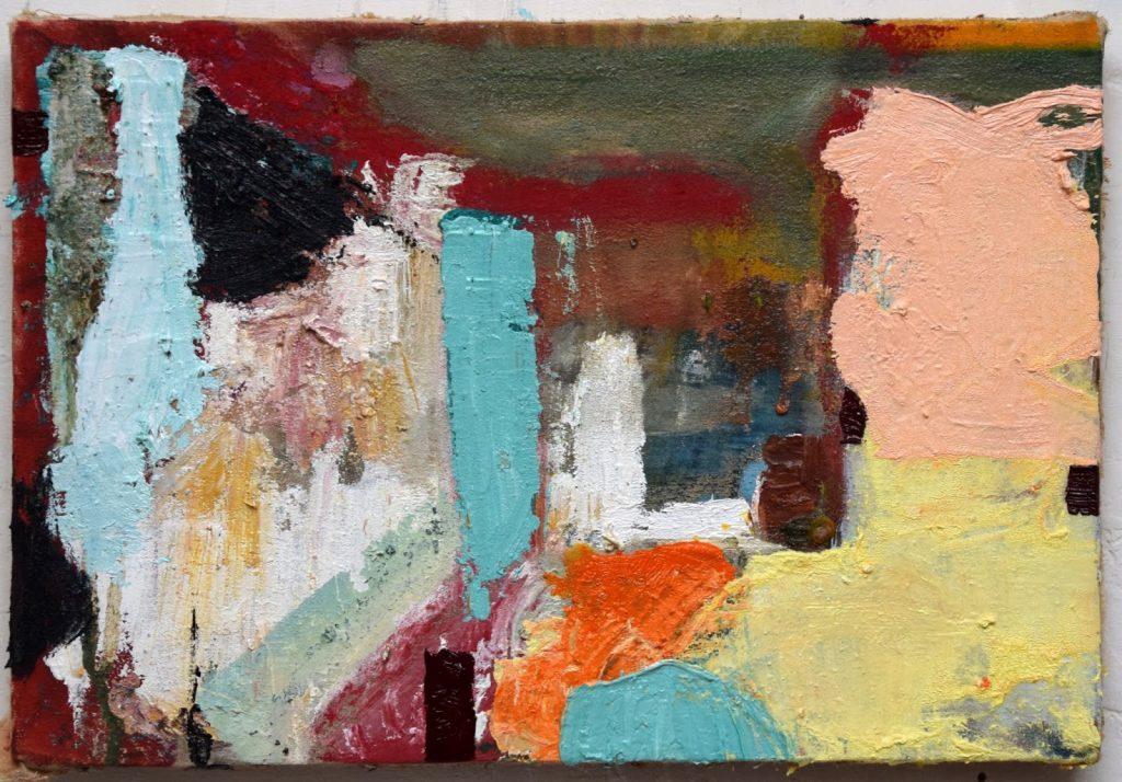 Schilderijtje te vinden boven het kleinste galerietje. werk van H.F. van Steensel